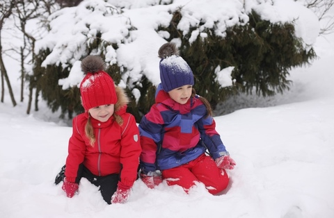 Зимний комбинезон Ticket to Heaven Snow Baggie для девочки в полоску