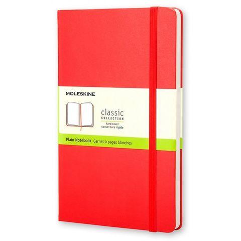 Блокнот Moleskine CLASSIC QP012R Pocket 90x140мм 192стр. нелинованный твердая обложка красный