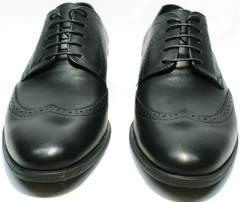 Стильные туфли мужские классика Ikos 1157-1 Classic Black.