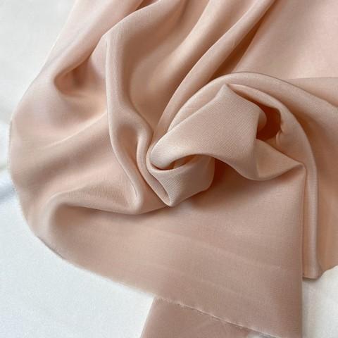 Шелк    крепдешин розово-пудрового цвета 1186