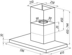 Вытяжка LEX T 600 Black - схема