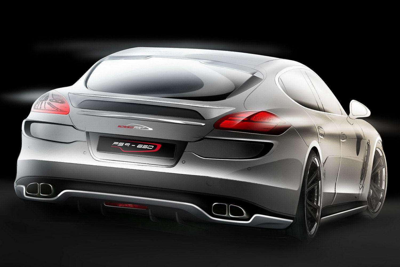 Аэродинамический комплект Porsche Panamera 10-12г - накладка на стекло