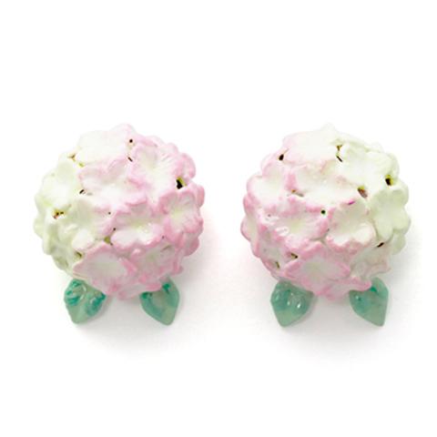 Серьги Гортензия (розовая)