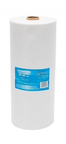 Салфетка одноразовая 30*40 плотность-спанлейс 50 белый