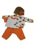 Костюм с курткой бомбером - Оранжевый. Одежда для кукол, пупсов и мягких игрушек.