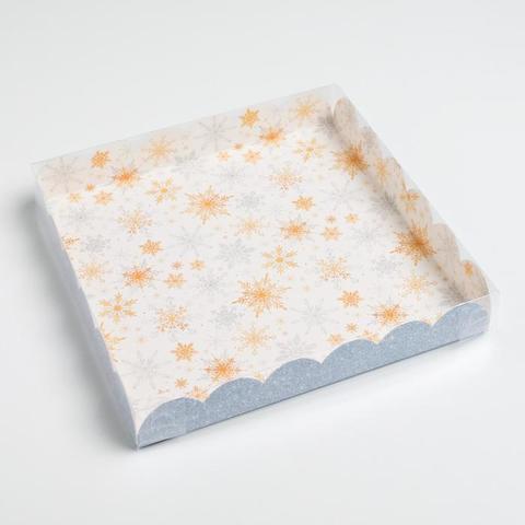 Коробочка«Снежинки», 21*21*3 см