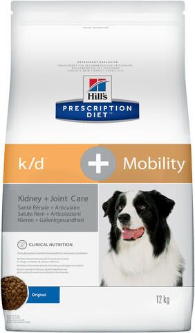 купить хиллс Hill's™ Prescription Diet™ Canine k/d™ + Mobility Kidney + Joint Care сухой корм для собак, диетический рацион для поддержания здоровья почек и суставов одновременно