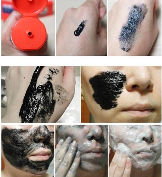 Кислородная маска для очищения пор Hell-Pore Bubble Blackboom Pore Pack
