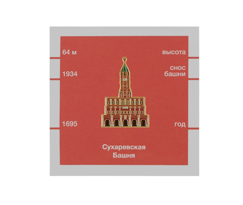 Значок металлический Московские тучерезы: Сухаревская башня