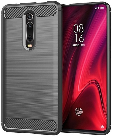 Чехол Xiaomi Mi 9T (9T Pro, Redmi K20, K20 Pro,K20 Pro Premium) цвет Gray (серый), серия Carbon, Caseport