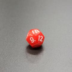 Куб D12 мраморный: Красный