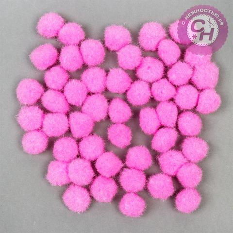 Помпоны текстильные 1,5 см, набор 50 шт.