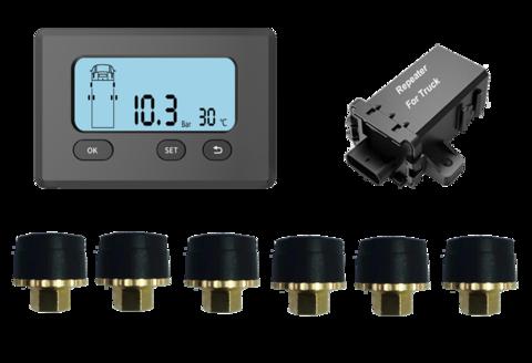 Система контроля давления в шинах TD20E с внешними датчиками для грузовиков, автобусов, прицепов (до 18 колес). ИНТЕРФЕЙС RS232/CAN