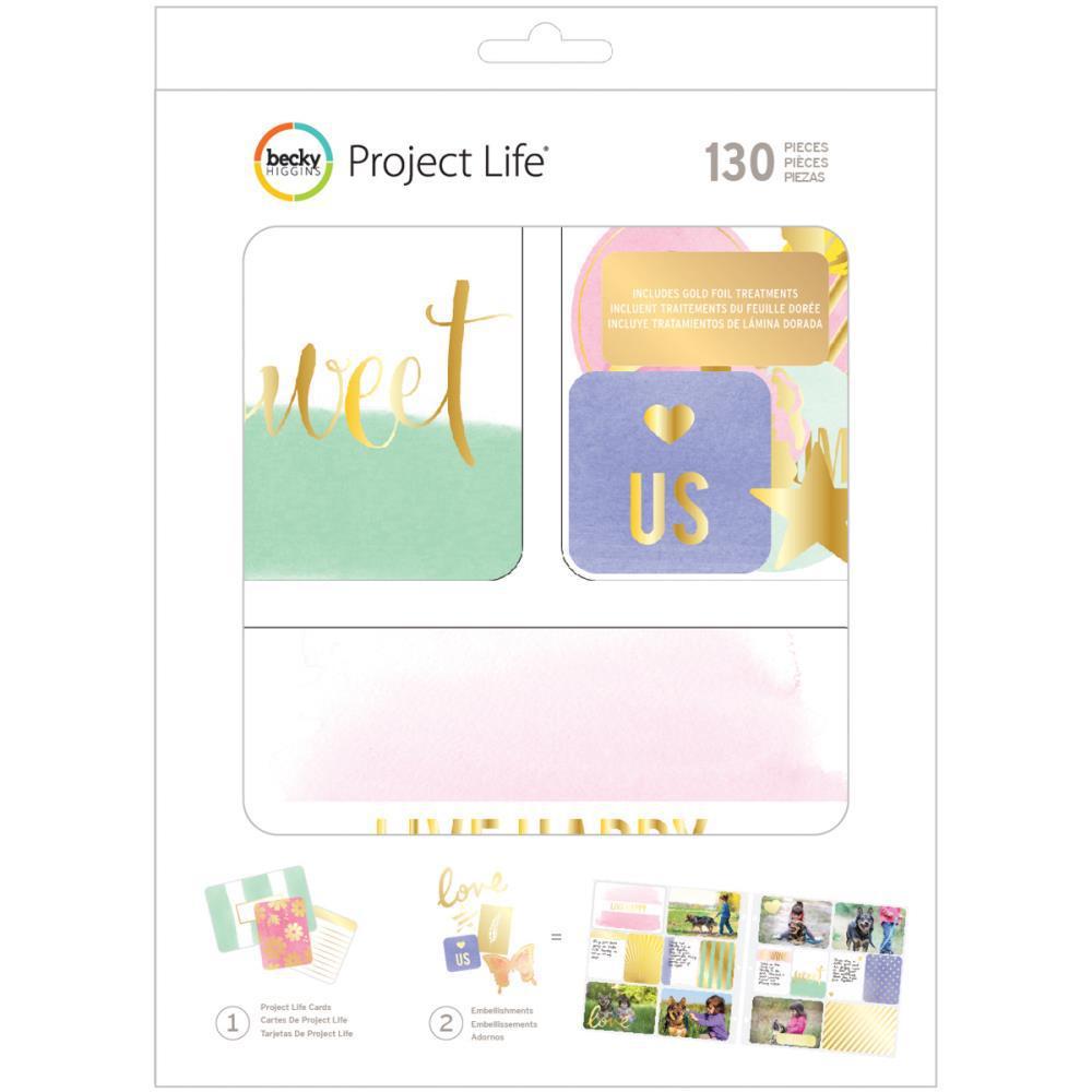 Kit набор карточек и украшений для Project Life