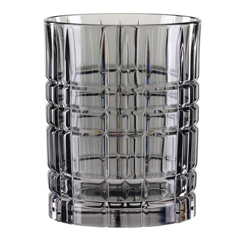 Серый хрустальный стакан для виски Highland, 345 мл