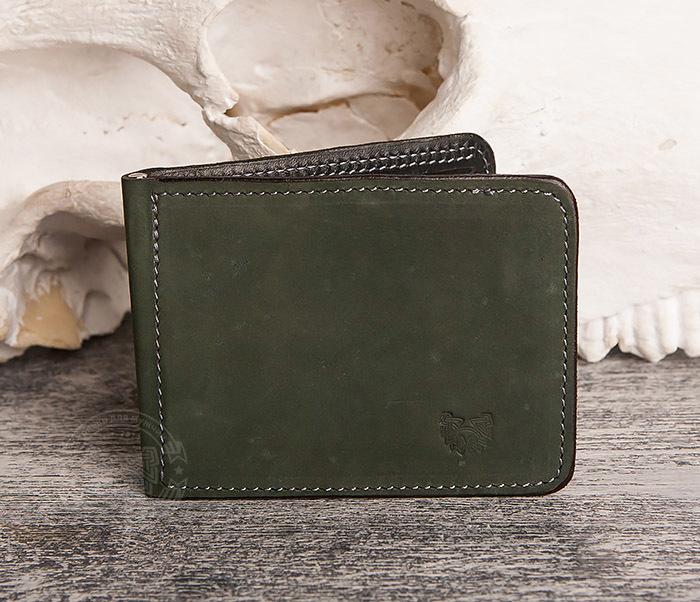 WB108-4 Яркий кошелек ручной работы с зажимом для денег. «Boroda Design» фото 02