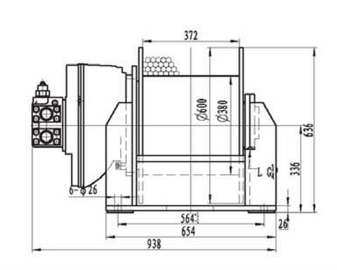 Лебедка свободного сброса IYJ4-65-93-21.5-L-ZPH3