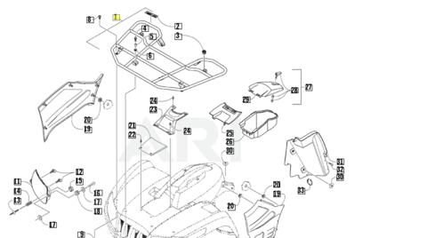 Решетка переднего багажника Arctic Cat 2506-643
