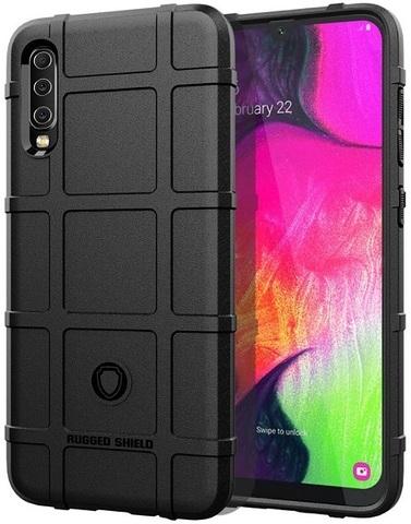 Чехол для Samsung Galaxy A70 (Galaxy A70S) цвет Black (черный), серия Armor от Caseport