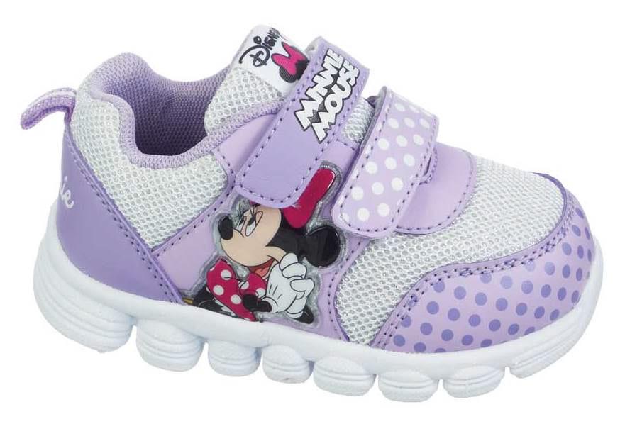 Кроссовки Минни Маус (Minnie Mouse) на липучках для девочек, цвет сиреневый