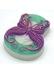 8 марта - Бабочка в завитушках, форма для мыла пластиковая