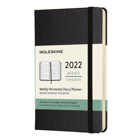 Еженедельник Moleskine (DHB12WH2) Classic WKLY Pocket 90x140мм 144стр. черный