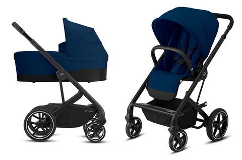 Детская коляска Cybex Balios S Lux BLK 2 в 1 Navy Blue