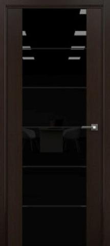 Дверь 3/3 (африканский орех, остекленная экошпон), фабрика Ладора