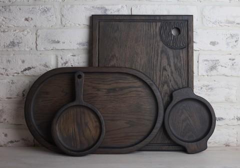 Большой набор для кухни из темного дуба
