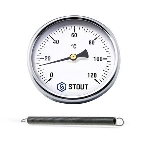 Термометр биметаллический накладной STOUT - 1/2