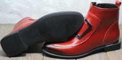Осенние ботинки на низком ходу женские Evromoda 1481547 S.A.-Red
