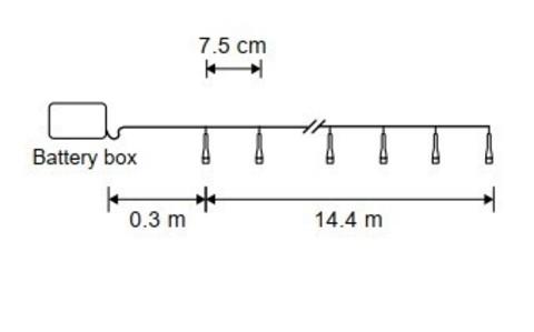 Гирлянда на батарейках Luca Lighting теплый белый свет с таймером отключения 6 часов (192 ламп, длина гирлянды 1440 см)