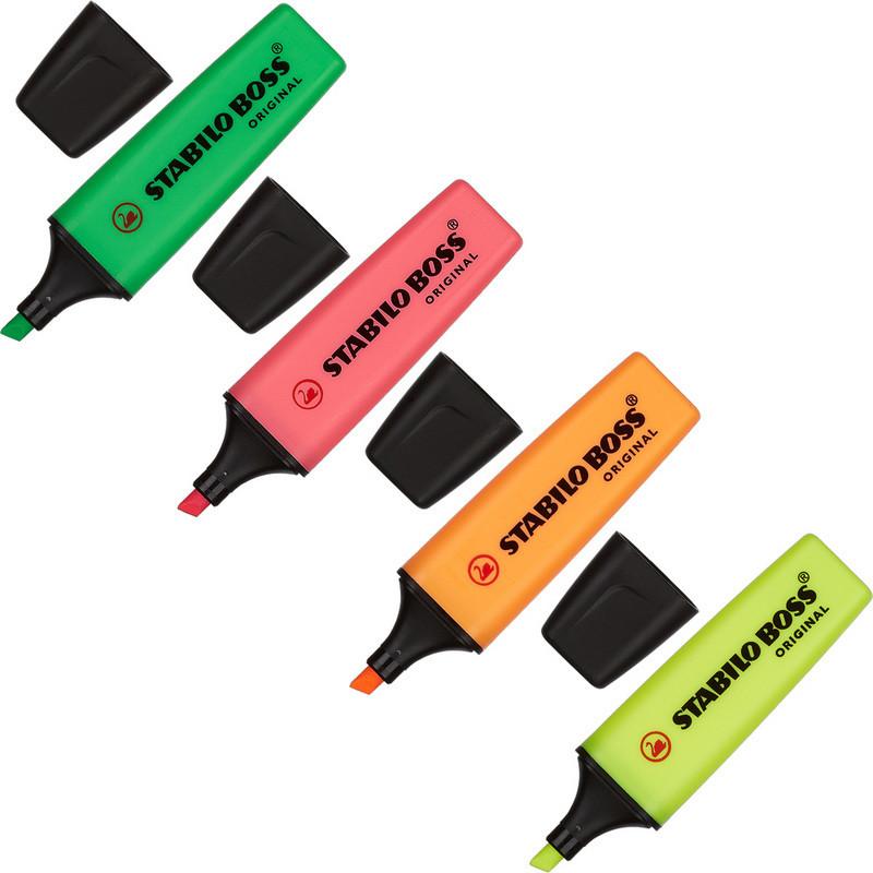 Набор текстовыделителей Stabilo Boss 70/4 (толщина линии 2-5 мм, 4 цвета)