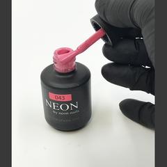 NEON, гель-лак Warm pink № 043 , (12ml) розовый теплый