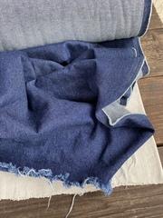 Джинса вареная, хлопок 100%, цвет Синяя варенка