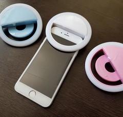 Светодиодное кольцо для селфи на телефон sefie ring light led