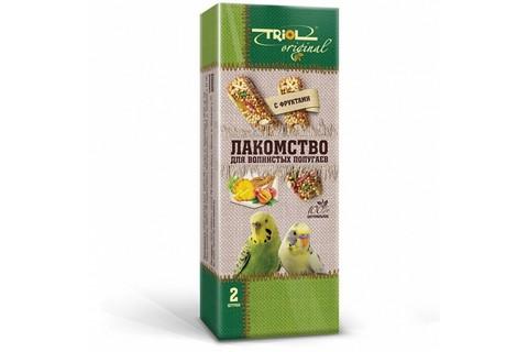 Triol Original лакомство для волнистых попугаев с фруктами (уп - 2шт) 55г