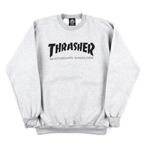 Толстовка (свитшот) THRASHER Skate Mag Crew Grey