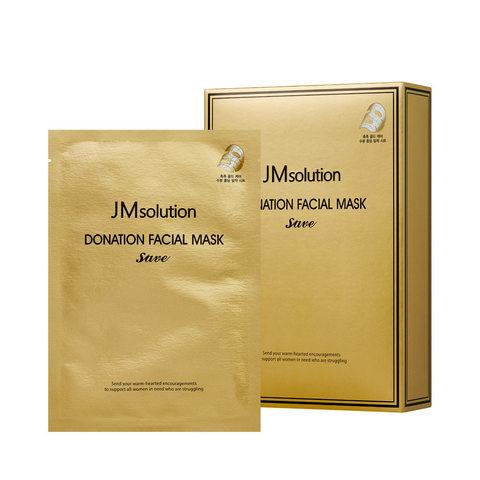 JMsolution Маска с коллоидным золотом, комплексом гиалуроновых кислот и пептидов с лифтинг-эффектом JMsolution DONATION FACIAL MASK SAVE,30 мл. ,