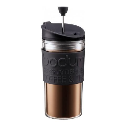 Кружка с прессом Bodum Travel (0,35 литра), черная