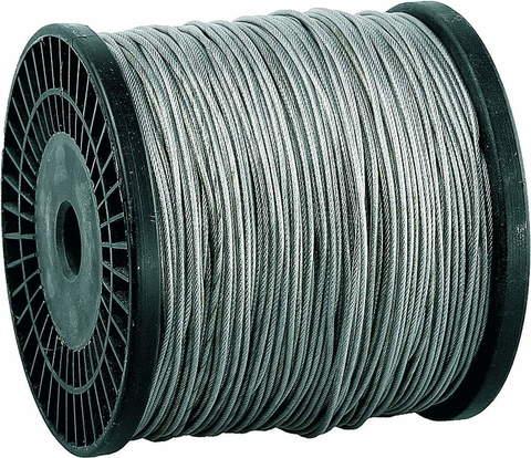 Трос стальной, оцинкованный, DIN 3055, в оплетке ПВХ, d= 4/5 мм, L=200 м, ЗУБР Профессионал