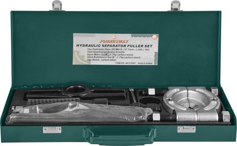 AE310007 Cъемник с сепаратором и гидравлическим цилиндром в наборе, диапазон захватов 75-105 мм, глубина захвата 375 мм, max усилие 10 т.