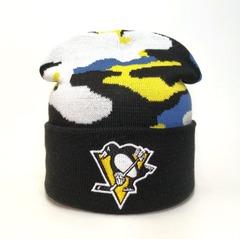 Вязаная шапка хоккей НХЛ Питтсбург Пингвинз (Hockey NHL Pittsburgh Penguins)