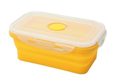 Силиконовый контейнер складной 500 мл. желтый