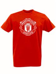 Футболка с принтом FC Manchester United (ФК Манчестер Юнайтед) красная 001