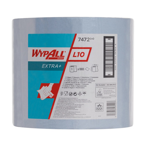 Материал протирочный  WYPALLxL10Extra+ Bl1x1000 38х23,5см гол.7472