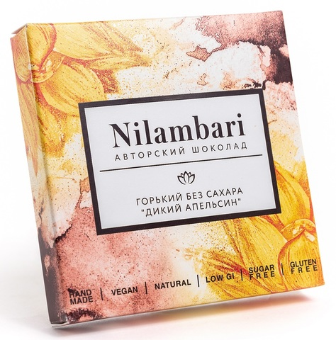 Шоколад Nilambari горький без сахара