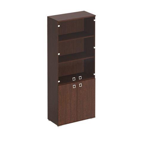 КС 305 Шкаф для документов со стеклянными прозрачными дверьми (90.2x44.2x221)