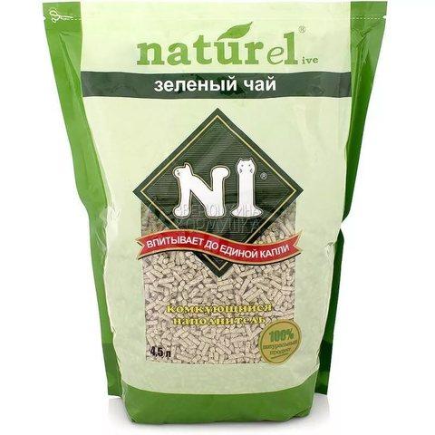 Наполнитель комкующийся Litter N1 NATUReL «Green tea» - crumpled