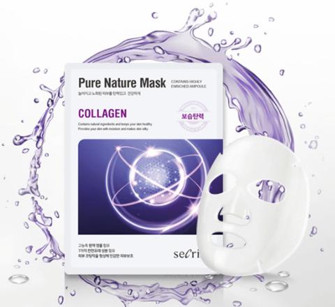 Anskin Маска для лица тканевая с коллагеном Secriss Pure Nature Mask Pack, 1 шт